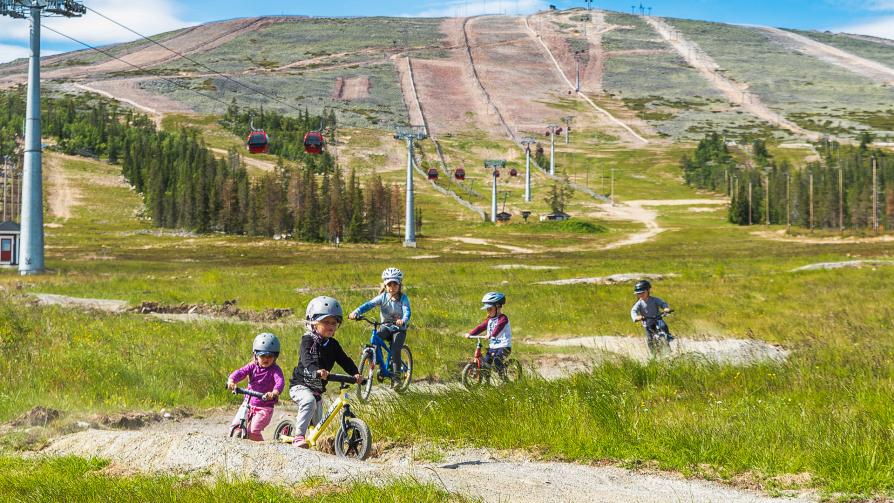 Training Track soveltuu lapsille ja tekniikan harjoitteluun, Ylläs Bike Park